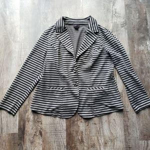 Torrid Black & Grey Stripe Blazer
